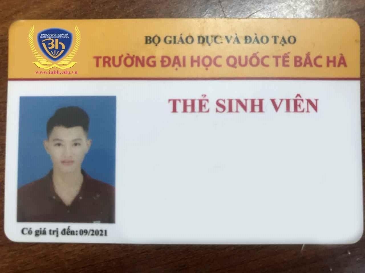 Quy định về thẻ sinh viên của Trường Đại học Quốc tế Bắc Hà