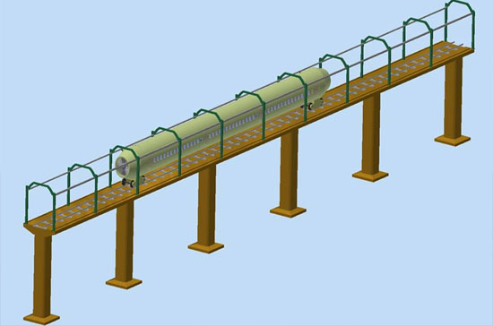 Mô hình tầu cao tốc có tốc độ ngang với máy bay
