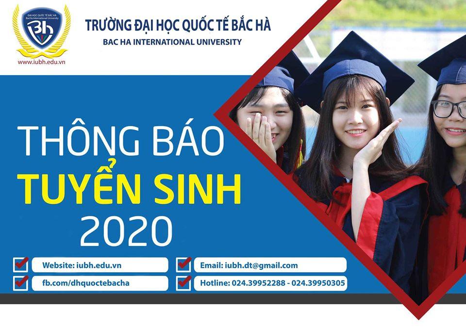 Thông báo tuyển sinh đại học năm 2020