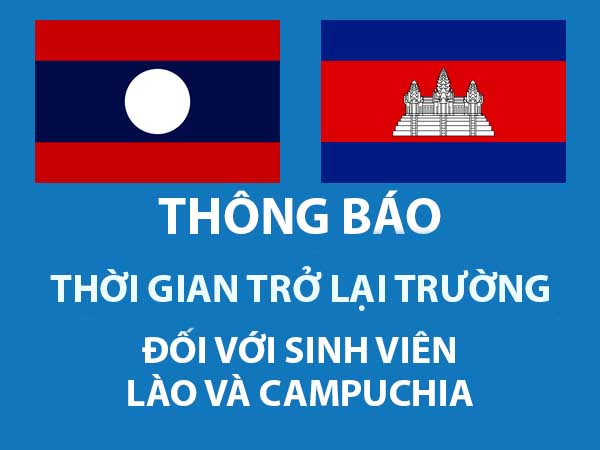 Thời gian trở lại trường đối với sinh viên Lào ...