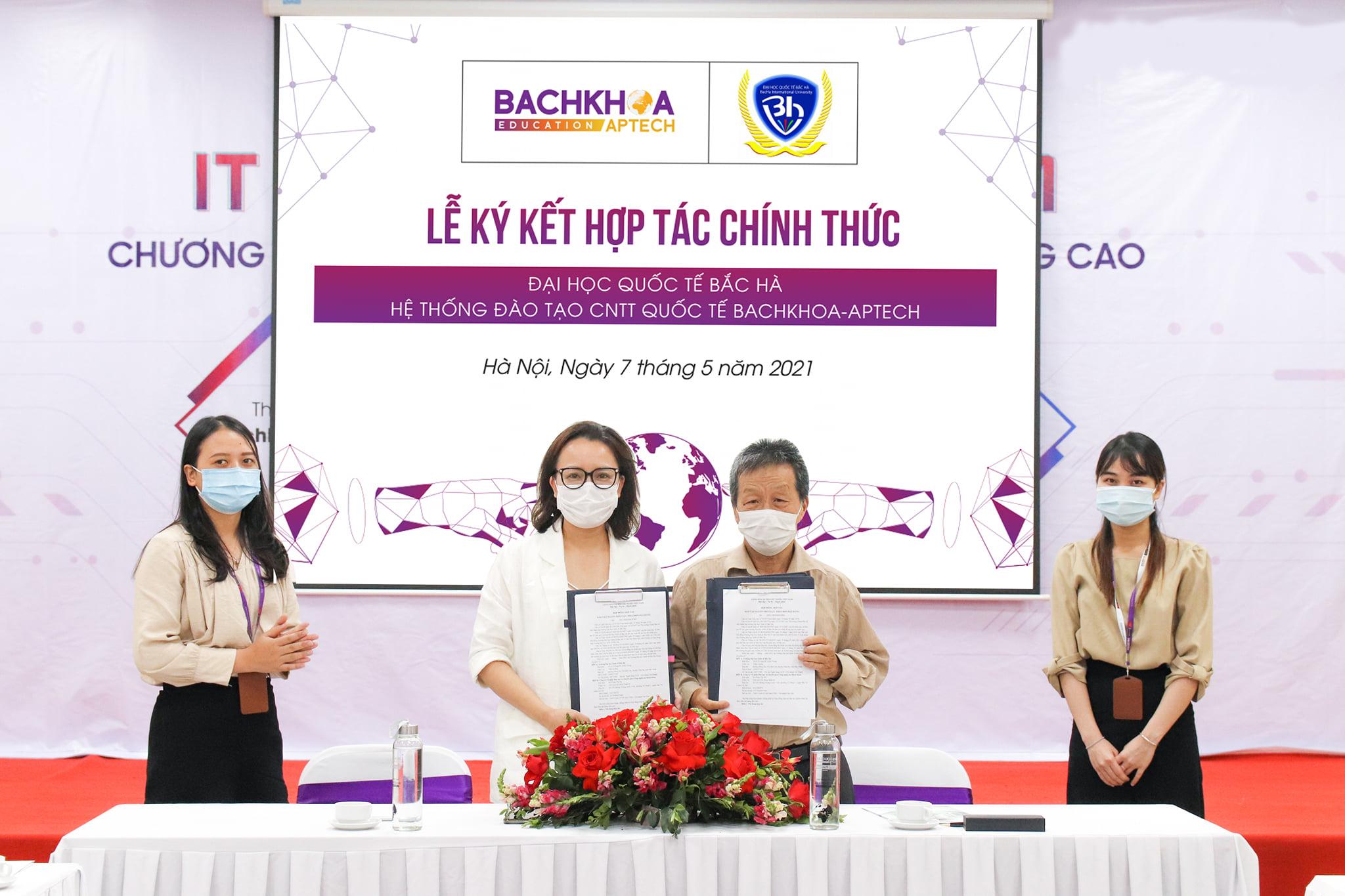 Lễ ký kết sự hợp tác giữa Trường Đại học Quốc tế Bắc Hà và Bachkhoa-Aptech